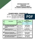 planificare examene 2013 iarna
