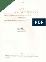 Dicionário Assírio - Volume XVII - S (Shin) Parte 2