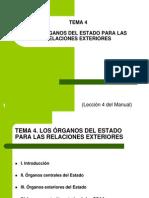 Tema 4. Los órganos del Estado para las relaciones exteriores