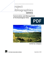 Conservation and Managment of Archaeological Sites