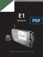 Eton E1 Owners Manual