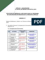 ADENDA APPS.CO – ACELERACIÓN EN BUSCA DE CAPITAL DE RIESGO CON RUTA N, 2013