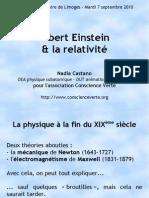 Conference Einstein Relativite vulgarisation