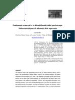 Fondamenti geometrici e problemi filosofici dello spazio-tempo