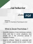 social behaviour