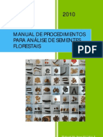 Manual de Análise de Sementes Florestais