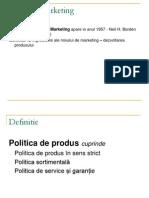 politica fde produs