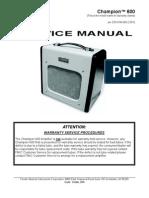 Fender Champion 600 Service Manual