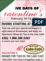 Arrowwood Resorts Five Days of Valentines