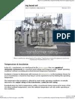 Trasnformer Rating