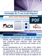 Garantizando Alineamiento Estrategia de TI & Negocio-Mario-Monsalve-2012!09!20