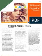 Billboard Magazine History