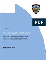 NYPD stop & frisk 2011