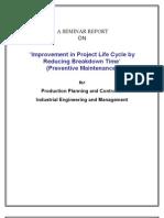 TPM Preventive Maintenance Report