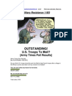 Military Resistance 11B3 OUTSTANDING!