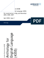 Edexcel IGCSE Anthology