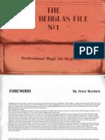 The David Berglas File 1