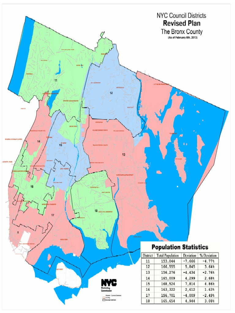 NYC Council Maps February 6 Plan for the Bronx