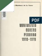 MARTINEZ, Ricardo- Movimiento Obrero Peruano