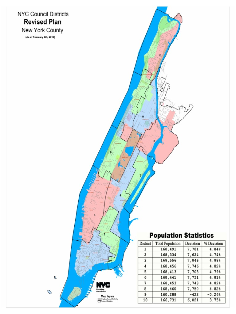 NYC Council Maps February 6 Plan for Manhattan