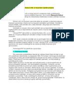 Drumul critic al resurselor - Resource Critical Path (RCP)