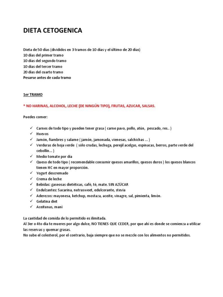 Dieta cetogenica de 50 dias para imprimir en pdf gratis