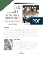 Courage Has No Color - Teachers' Guide