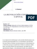 Antonio Gramsci - La Revolución Contra El Capital