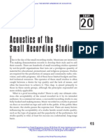 Acoustics of the Small Recording Studio