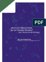 Actos Jurisdiccionales Del Los Fiscales Penales - Hurtado Poma