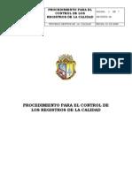 Procedimiento Control Registros