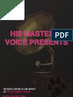 HMV Presents Poster