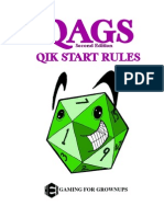QAGS quick start rules