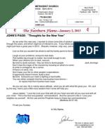 FUMC Newsletter January 2, 2013