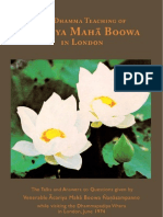 The Dhamma Teaching of Acariya Maha Boowa in London