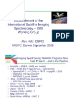 Alex Held - Establishment of the International Spaceborne Imaging Spectroscopy (ISIS) working group