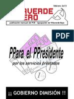 Villaverde Obrero - Número 20 - Febrero 2o13