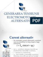 Curentul  electric alternativ