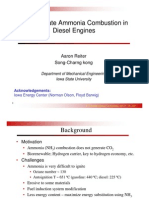 nh3.Demonstrate Ammonia Combustion in Diesel Engines.• Motivation • Ammonia (NH3) combustion does not generate CO2 • Biorenewable; Hydrogen carrier, key to hydrogen economy, etc. • Challenges • Ammonia is very difficult to ignite • Octane number ~ 130 • Autoignition T ~ 651 ºC (gasoline