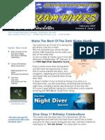 Dream Divers February 2009 Newsletter
