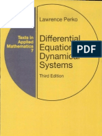 Differential Equations and Dynamical Systems - Lawrence Perko