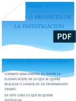 DISEÑO O PROYECTO DE INVESTG