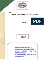 2da Clase Elementos, Factores y Etapas de La Adm