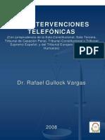 Las Intervenciones Telefonicas - Rafael Gullock Vargas