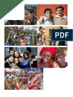 Imagenes de personas de distintos continentes, ademas articulo (clasificación de la basura)