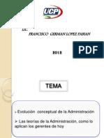 2da Clase Evolucion de La Administracion
