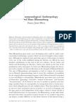 WETZ, F. the Phenomenological Anthropology of Hans Blumenberg