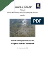 Plan de Contingencia Pitalito Huila