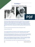 Teachings of Holiness Sheikh Bawa Muhaiyaddeen _lovingly called Bawange or Guru Bawa by his devotees