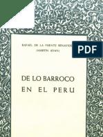 De lo barroco en el Perú - Rafael de la Fuente Benavides
